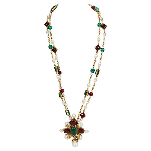 Rare Chanel Gripoix Necklace, 1994
