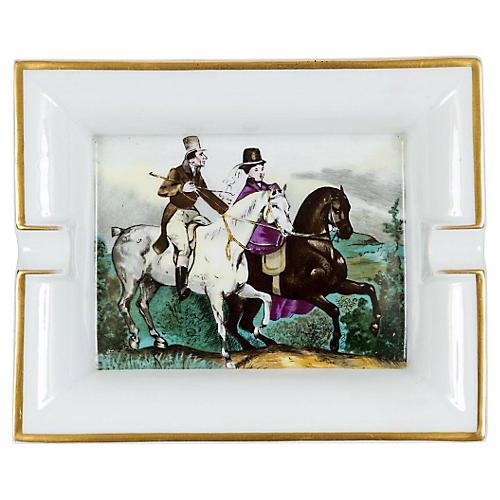 Hermès Porcelain Riders Ashtray