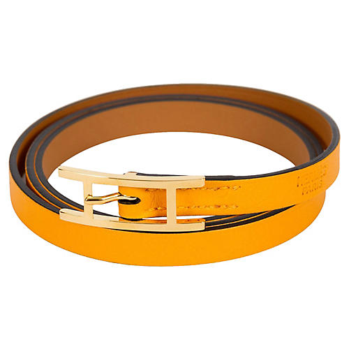 Hermès Jaune d'Or Wrap Bracelet