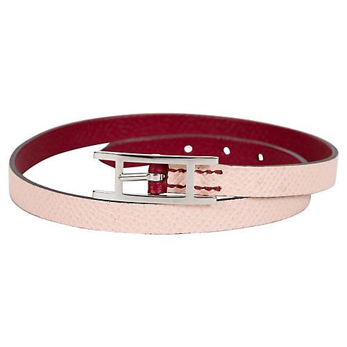 Hermès Pink & Burgundy Wrap Bracelet