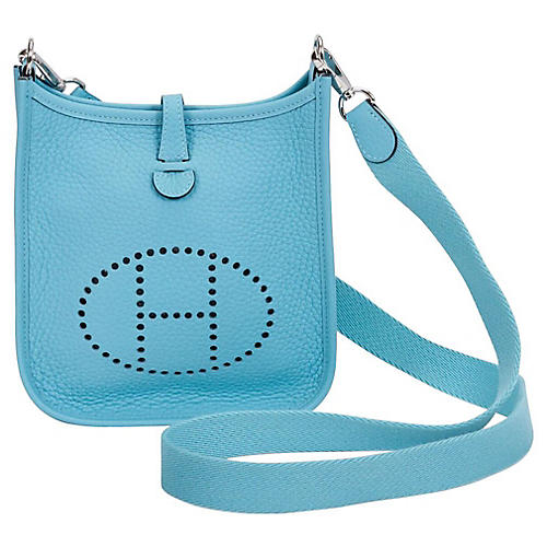 Hermès Mini Blue Atolle Evelyne