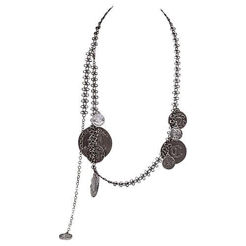 Chanel Gunmetal Coin Belt/Necklace