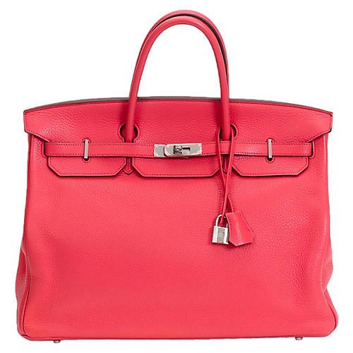 Pristine Hermès Rose Jaipur Birkin Bag