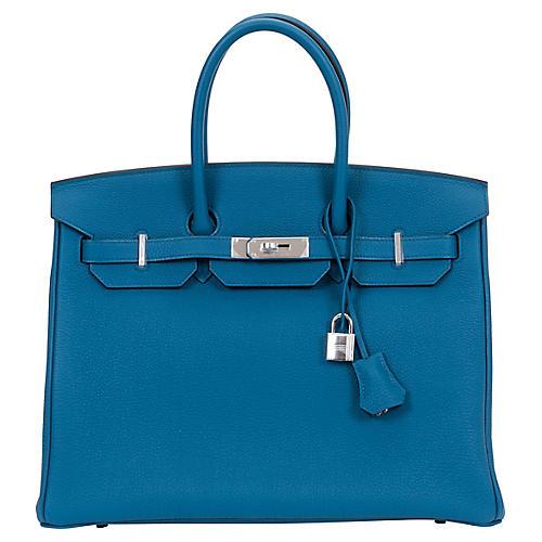 Hermès Birkin 35 Cobalt Bag