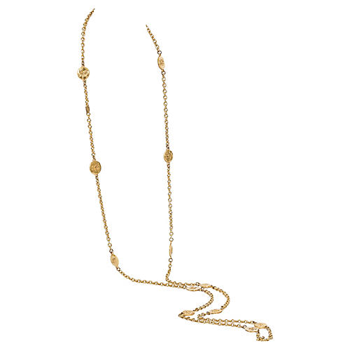 Chanel Extra Long Logo Necklace Gold