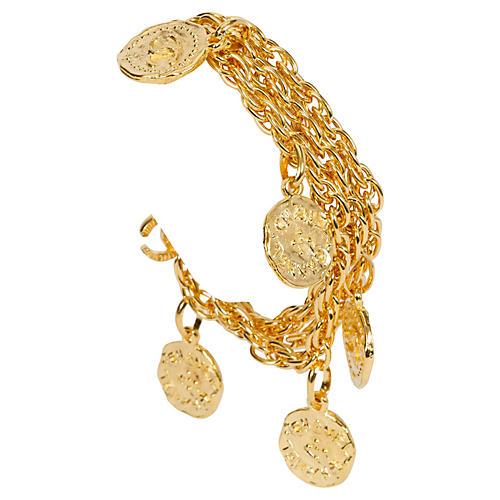 Chanel 3-Strand Coin Bracelet