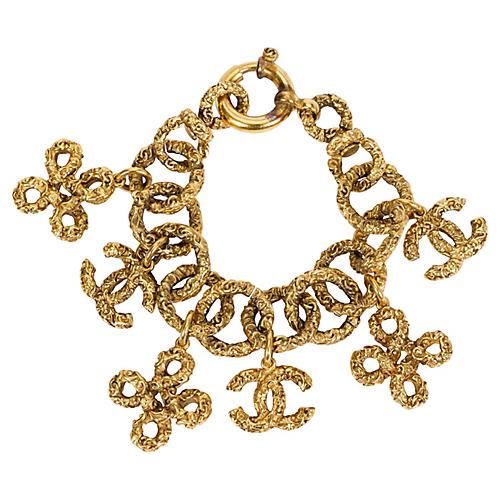 Chanel Florentine Logo Charms Bracelet