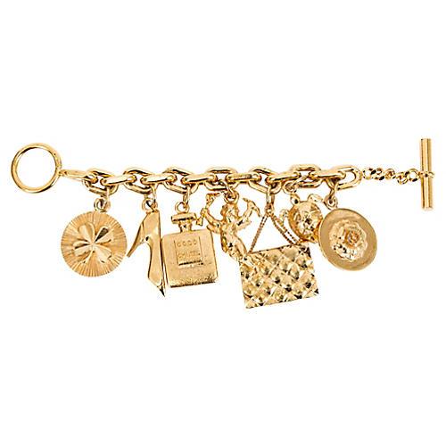 1970s Chanel Icons Charm Bracelet
