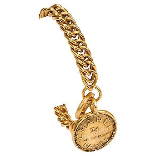 Chanel Oversize Chain Coin Bracelet