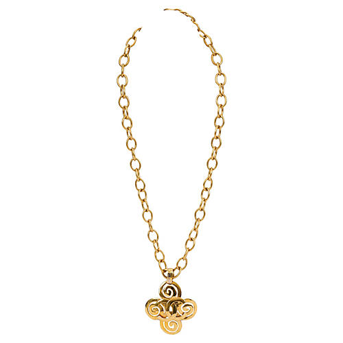 Chanel Extra-Long Clover Necklace