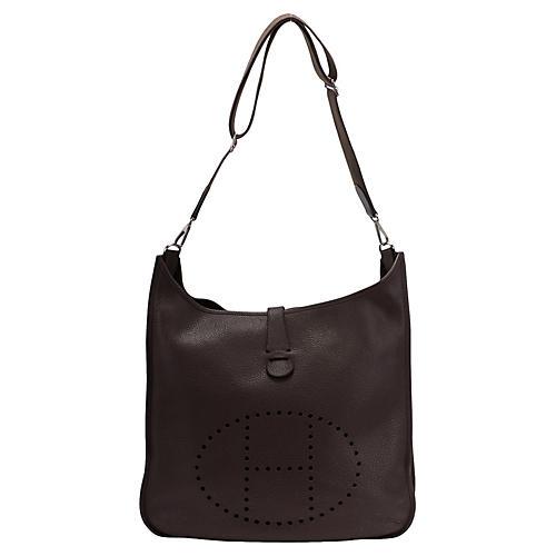 Hermès Maxi Chocolate Brown Evelyne Bag