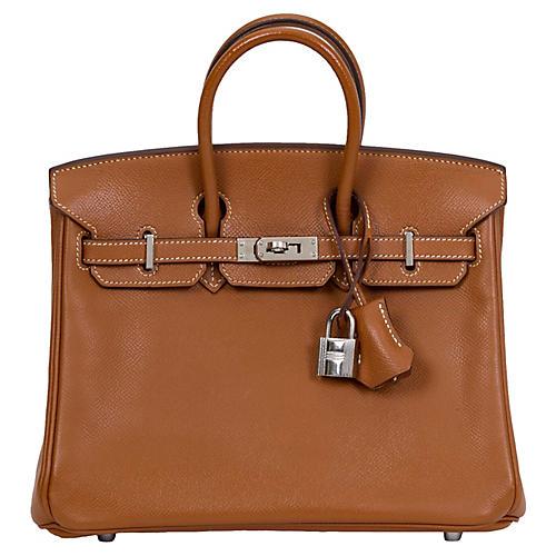 Hermès 25cm Gold Epsom Birkin
