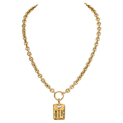 Chanel Address Tag Necklace