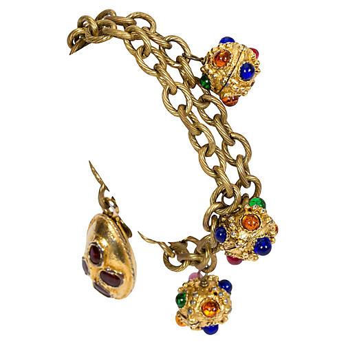 1970s Chanel Gripoiox Charm Bracelet