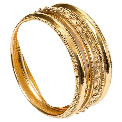 Chanel Gold Bangles, S/3