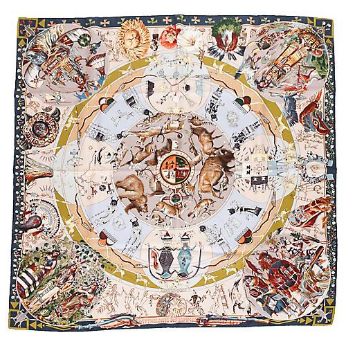 Hermès Mythologies Silk Scarf