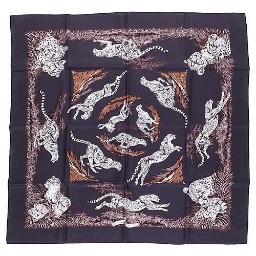 Hermès Silk Guépards Scarf