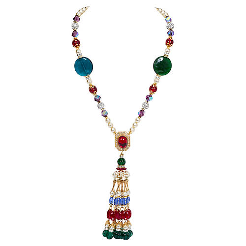 Vrba One-of-a-Kind Pearl Tassel Necklace