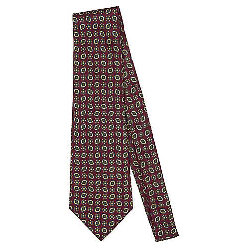 Fendi Burgundy Paisley Tie