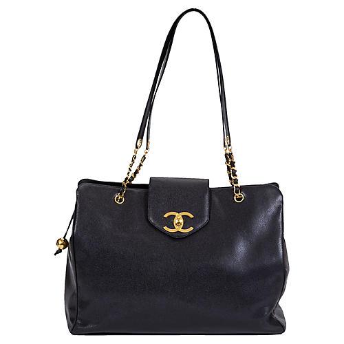 Chanel Black Caviar Weekender Bag
