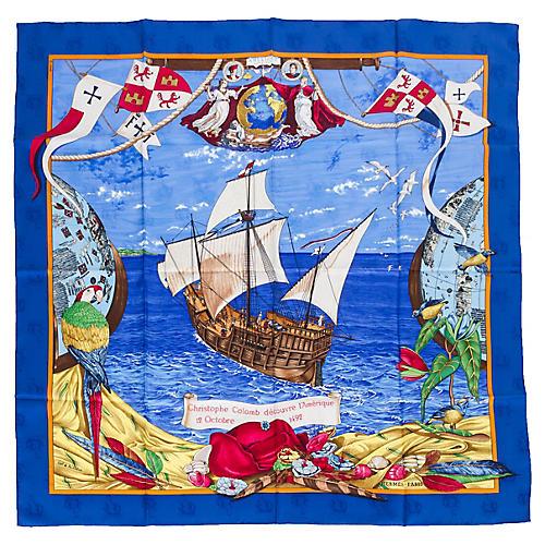 Hermès Christophe Colomb Scarf