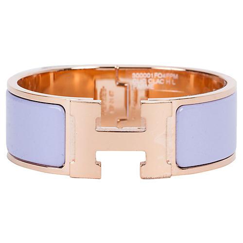 Hermés Parme Rose Gold H Bracelet