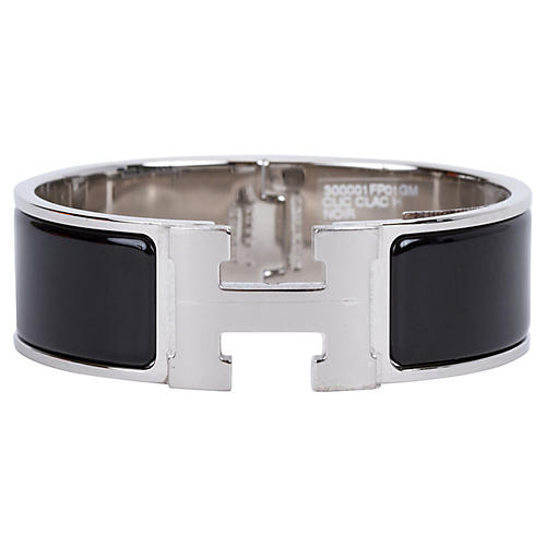 Hermès Black Palladium H Bracelet