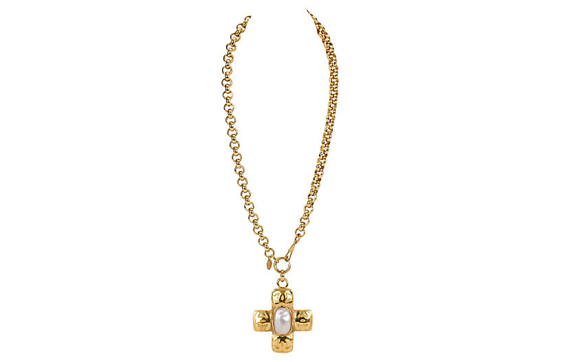 Chanel Oversize Cross Necklace