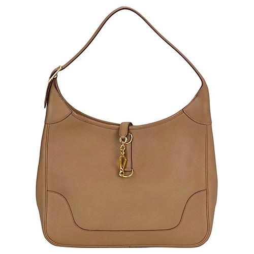 Hermès Light Brown Trim Shoulder Bag