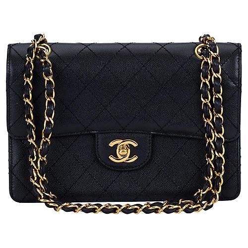 1990s Chanel Black Caviar Handbag