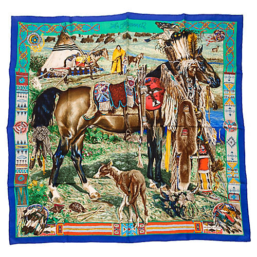 Hermès Les Cheyennes Scarf