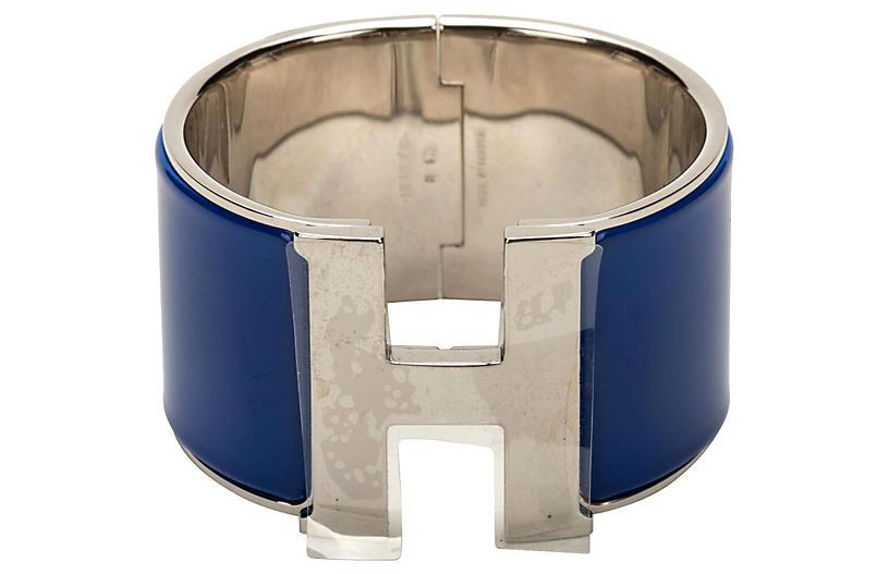 Hermès Electric Blue Mega Clic Clac Cuff