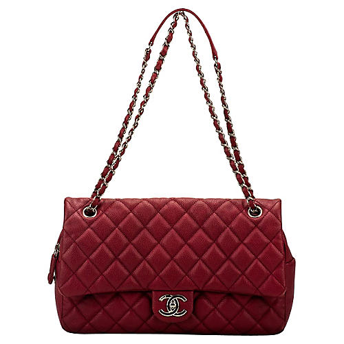 Chanel Cherry Red Jumbo Flap Bag
