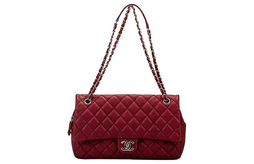 Chanel Cherry Red Jumbo Flap Bag