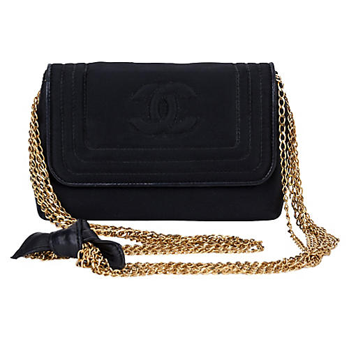 Chanel Black Silk Multi-Chain Bag