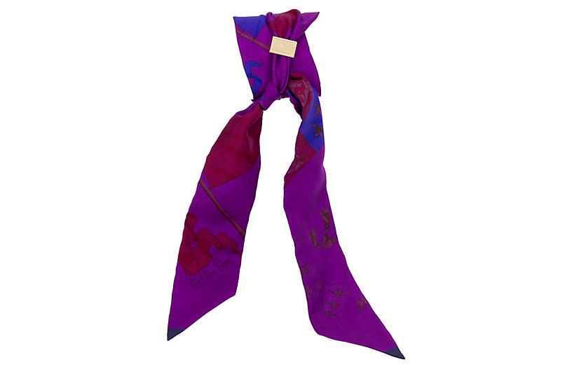 Hermès Pavois Purple Twilly