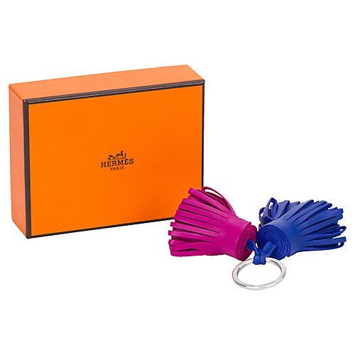 Hermès Double-Tassel Keychain