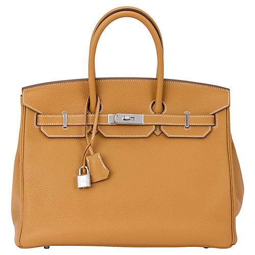 Hermès Sable Clemence 35cm Birkin