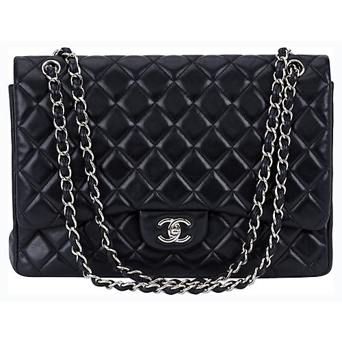 Chanel Black Maxi Single-Flap Bag