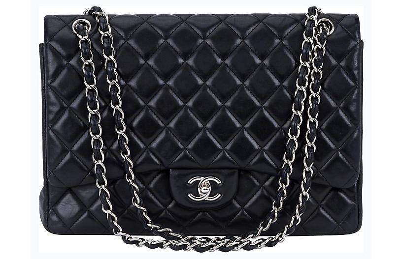 Chanel Black Maxi Single-Flap Bag