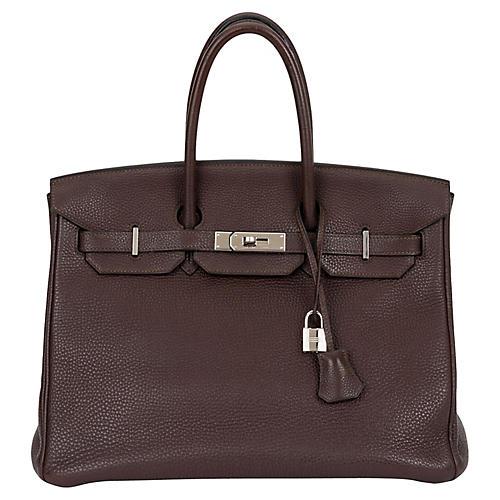 Hermès 35cm Ebene Clemence Birkin