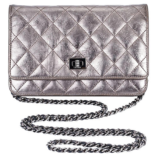 Chanel Reissue Pewter Wallet on a Chain