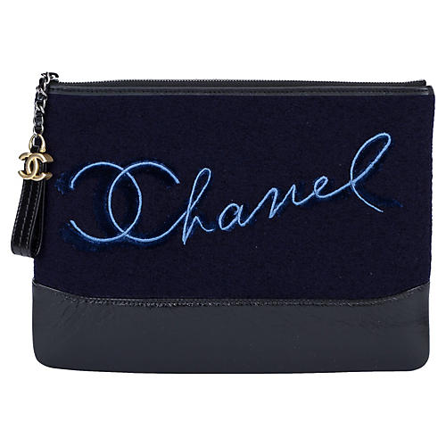 Chanel Navy Paris Salzburg Clutch