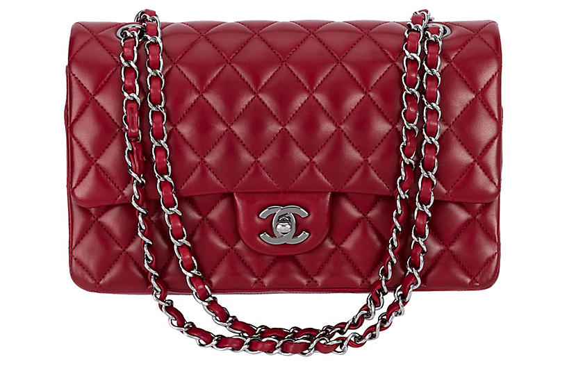Chanel Deep Red Double Flap Bag