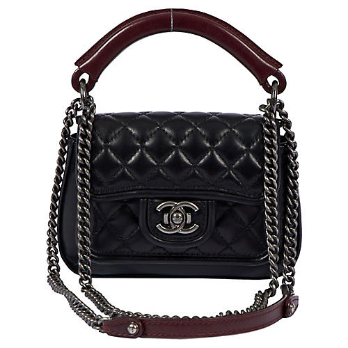 Chanel New 2-Way Quilted Black Bag