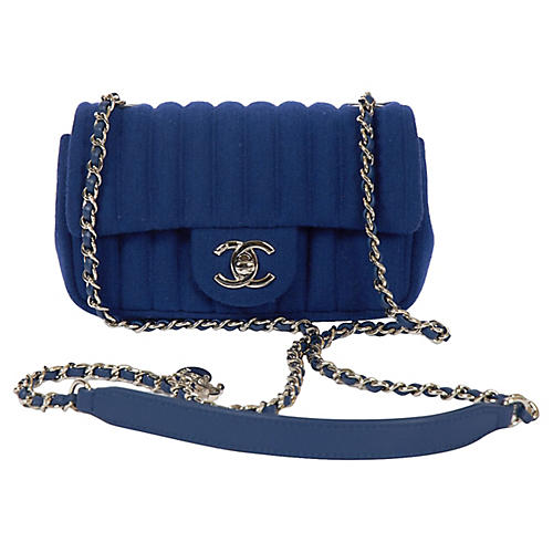 Chanel Electric Blue Jersey Crossbody