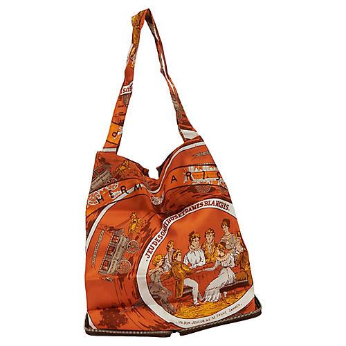 Hermès Brown & Orange Silky Pop Bag