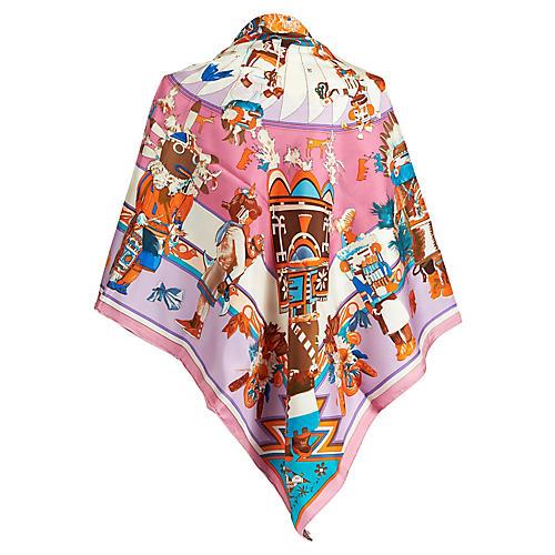 Hermès Chiffon Kachinas Shawl