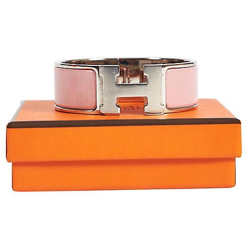 Hermès Rose Clic Clac Bracelet