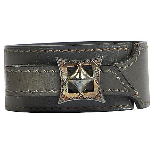 Hermès Gray Box Silver Tuareg Bracelet
